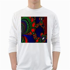 Recurring Circles In Shape Of Amphitheatre White Long Sleeve T-Shirts