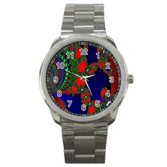 Recurring Circles In Shape Of Amphitheatre Sport Metal Watch