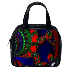 Recurring Circles In Shape Of Amphitheatre Classic Handbags (One Side)