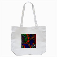 Recurring Circles In Shape Of Amphitheatre Tote Bag (White)