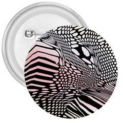 Abstract Fauna Pattern When Zebra And Giraffe Melt Together 3  Buttons