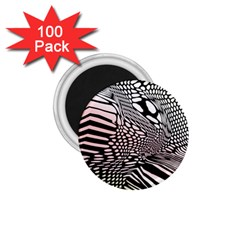 Abstract Fauna Pattern When Zebra And Giraffe Melt Together 1 75  Magnets (100 Pack)