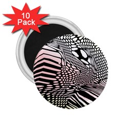 Abstract Fauna Pattern When Zebra And Giraffe Melt Together 2 25  Magnets (10 Pack)