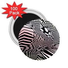 Abstract Fauna Pattern When Zebra And Giraffe Melt Together 2 25  Magnets (100 Pack)