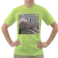 Abstract Fauna Pattern When Zebra And Giraffe Melt Together Green T-Shirt