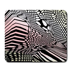 Abstract Fauna Pattern When Zebra And Giraffe Melt Together Large Mousepads