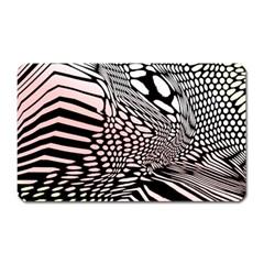 Abstract Fauna Pattern When Zebra And Giraffe Melt Together Magnet (Rectangular)