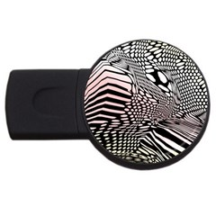 Abstract Fauna Pattern When Zebra And Giraffe Melt Together Usb Flash Drive Round (2 Gb)