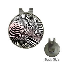 Abstract Fauna Pattern When Zebra And Giraffe Melt Together Hat Clips With Golf Markers