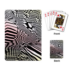 Abstract Fauna Pattern When Zebra And Giraffe Melt Together Playing Card