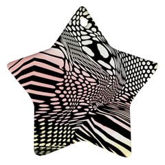 Abstract Fauna Pattern When Zebra And Giraffe Melt Together Star Ornament (Two Sides)