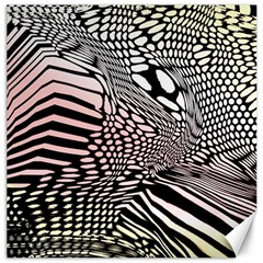 Abstract Fauna Pattern When Zebra And Giraffe Melt Together Canvas 16  X 16
