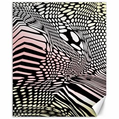 Abstract Fauna Pattern When Zebra And Giraffe Melt Together Canvas 16  X 20
