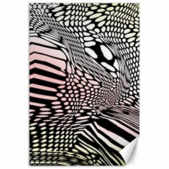 Abstract Fauna Pattern When Zebra And Giraffe Melt Together Canvas 20  X 30