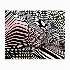 Abstract Fauna Pattern When Zebra And Giraffe Melt Together Small Glasses Cloth (2 Side)