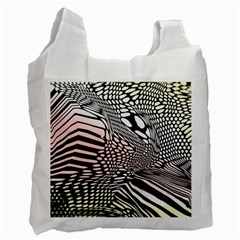 Abstract Fauna Pattern When Zebra And Giraffe Melt Together Recycle Bag (two Side)