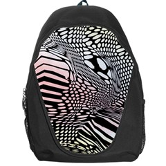 Abstract Fauna Pattern When Zebra And Giraffe Melt Together Backpack Bag