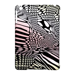 Abstract Fauna Pattern When Zebra And Giraffe Melt Together Apple iPad Mini Hardshell Case (Compatible with Smart Cover)