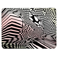 Abstract Fauna Pattern When Zebra And Giraffe Melt Together Samsung Galaxy Tab 7  P1000 Flip Case