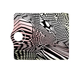 Abstract Fauna Pattern When Zebra And Giraffe Melt Together Kindle Fire HDX 8.9  Flip 360 Case