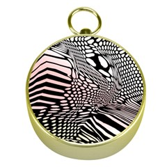 Abstract Fauna Pattern When Zebra And Giraffe Melt Together Gold Compasses