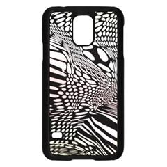 Abstract Fauna Pattern When Zebra And Giraffe Melt Together Samsung Galaxy S5 Case (black)
