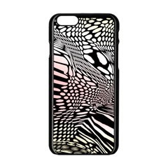 Abstract Fauna Pattern When Zebra And Giraffe Melt Together Apple iPhone 6/6S Black Enamel Case