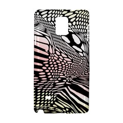 Abstract Fauna Pattern When Zebra And Giraffe Melt Together Samsung Galaxy Note 4 Hardshell Case