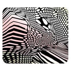 Abstract Fauna Pattern When Zebra And Giraffe Melt Together Double Sided Flano Blanket (Small)
