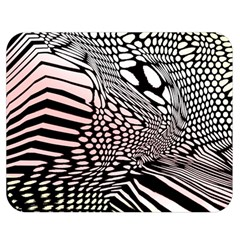 Abstract Fauna Pattern When Zebra And Giraffe Melt Together Double Sided Flano Blanket (medium)