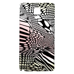 Abstract Fauna Pattern When Zebra And Giraffe Melt Together Galaxy Note 4 Back Case