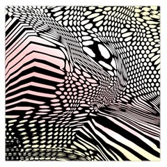 Abstract Fauna Pattern When Zebra And Giraffe Melt Together Large Satin Scarf (Square)