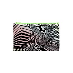 Abstract Fauna Pattern When Zebra And Giraffe Melt Together Cosmetic Bag (xs)