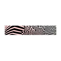 Abstract Fauna Pattern When Zebra And Giraffe Melt Together Flano Scarf (Mini)