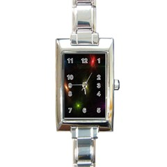 Star Lights Abstract Colourful Star Light Background Rectangle Italian Charm Watch