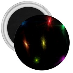 Star Lights Abstract Colourful Star Light Background 3  Magnets