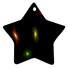 Star Lights Abstract Colourful Star Light Background Ornament (star)