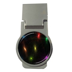 Star Lights Abstract Colourful Star Light Background Money Clips (Round)