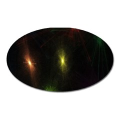Star Lights Abstract Colourful Star Light Background Oval Magnet