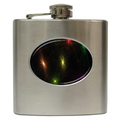 Star Lights Abstract Colourful Star Light Background Hip Flask (6 oz)
