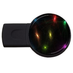 Star Lights Abstract Colourful Star Light Background Usb Flash Drive Round (2 Gb)