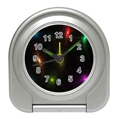 Star Lights Abstract Colourful Star Light Background Travel Alarm Clocks