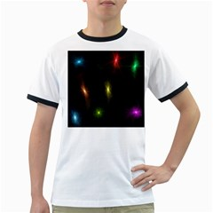 Star Lights Abstract Colourful Star Light Background Ringer T-Shirts