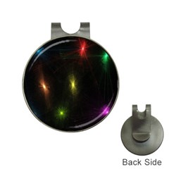 Star Lights Abstract Colourful Star Light Background Hat Clips With Golf Markers