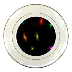 Star Lights Abstract Colourful Star Light Background Porcelain Plates