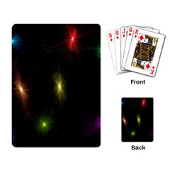 Star Lights Abstract Colourful Star Light Background Playing Card