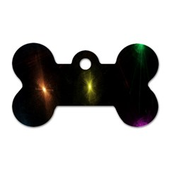 Star Lights Abstract Colourful Star Light Background Dog Tag Bone (One Side)