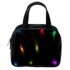 Star Lights Abstract Colourful Star Light Background Classic Handbags (One Side)