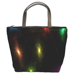 Star Lights Abstract Colourful Star Light Background Bucket Bags