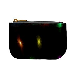 Star Lights Abstract Colourful Star Light Background Mini Coin Purses
